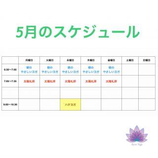 朝ヨガ Zoom オンラインレッスン 〜5月のスケジュール〜