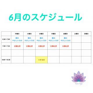 朝ヨガ Zoom オンラインレッスン 〜6月のスケジュール〜